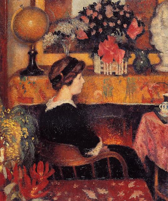 Georges Lemmen - Madame Lemmen in a Flowery Interior