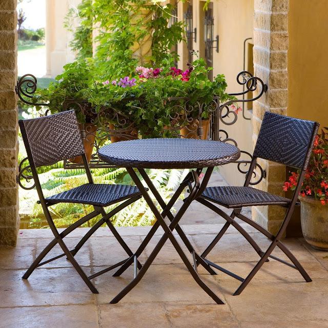 Sleek Piece Outdoor Bistro Patio Furniture Set Espresso