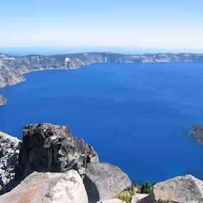 CRATER LAKE by John Dutton - Landscapes Waterscapes ( oregon, crater lake, blue, lake, volcanic )