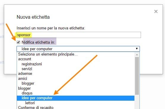 nidificazione-etichette-gmail