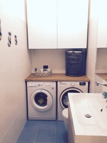 Il bagno lavanderia mammachenews for Mobile bagno sopra lavatrice