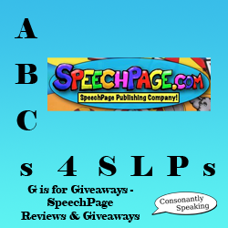 ABCs 4 SLPs: G is for Giveaways - SpeechPage Product Reviews and Giveaways image