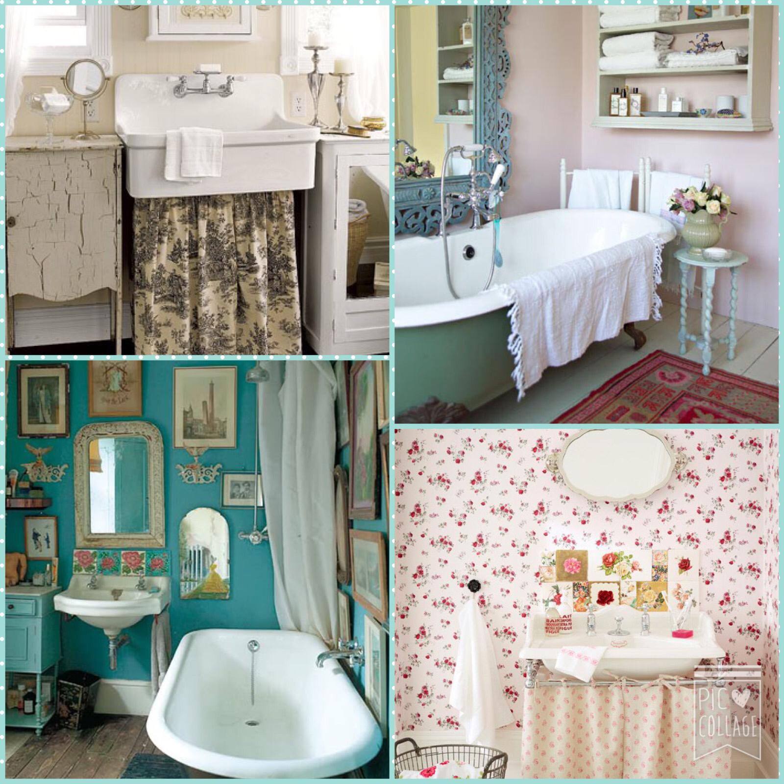 ShabbyChicSarah: Bathroom Makeover - Vintage Style....