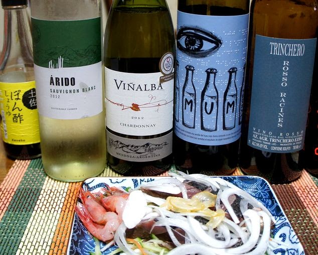 カツオのタタキとワインのマリアージュ