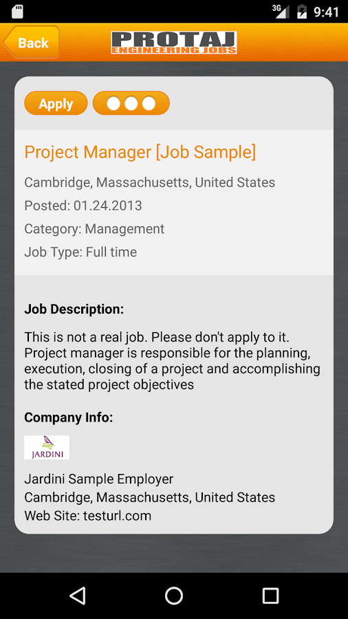 Protaj Engineers Jobs- screenshot