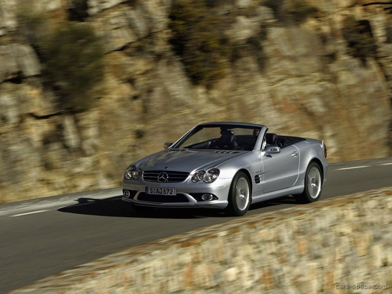 2007 mercedes benz sl class sl55 amg specifications for Mercedes benz sl55 amg