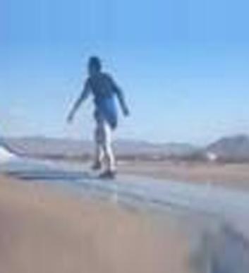 Man walking on Plane fan