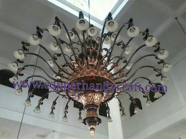 kerajinan lampu gantung hias tembaga
