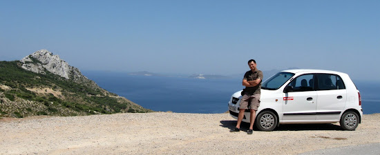 grecja wyspa wynajęte auto nad kefalos bay