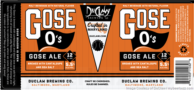 DuClaw Gose O's Cantaloupe Gose Coming To Cans