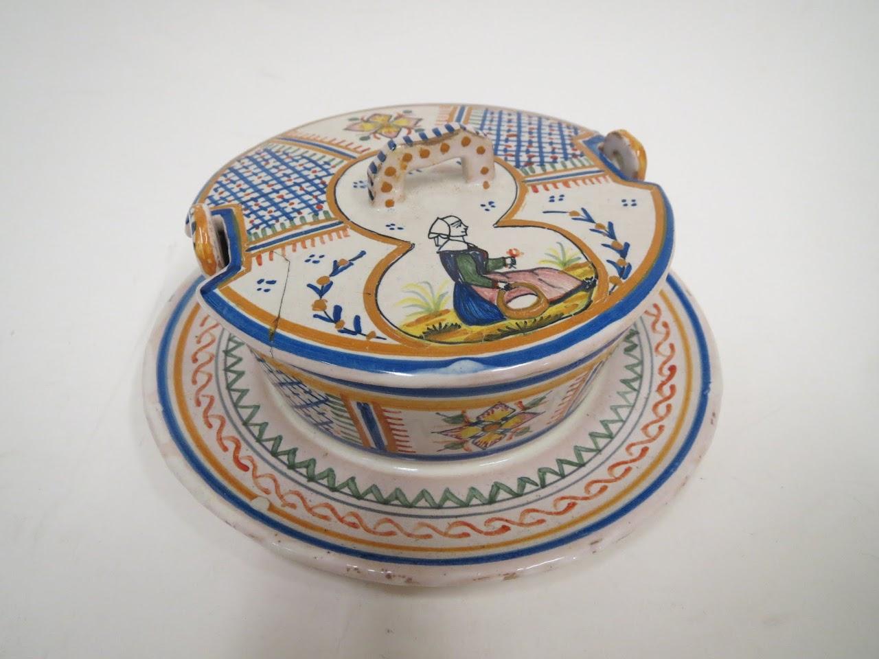 Henriot Quimper Sugar Dish
