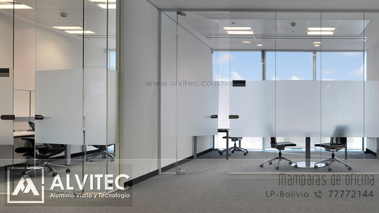 Mamparas para oficina en vidrio templado