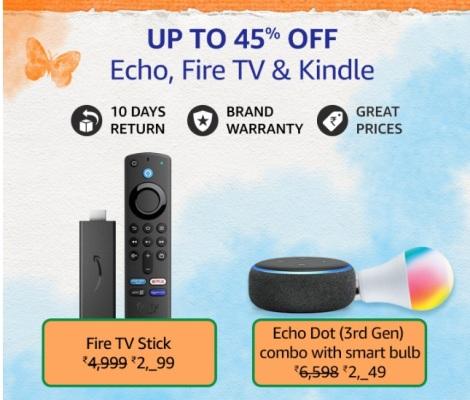 Amazon Great Freedom Sale Echo Fire Tv & Kindle