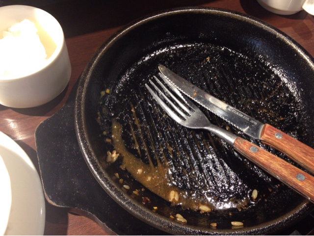 ワイルドステーキ 鉄皿