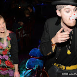 WWW.ENTSIMAGES.COM -    Chris Cross (Contortionist, Escapologist and Magician) and Claire Gatens entertaining guests  at      Beat The Brief Variety Show Cafe de Paris London September 22nd 2014                                                 Photo Mobis Photos/OIC 0203 174 1069 and