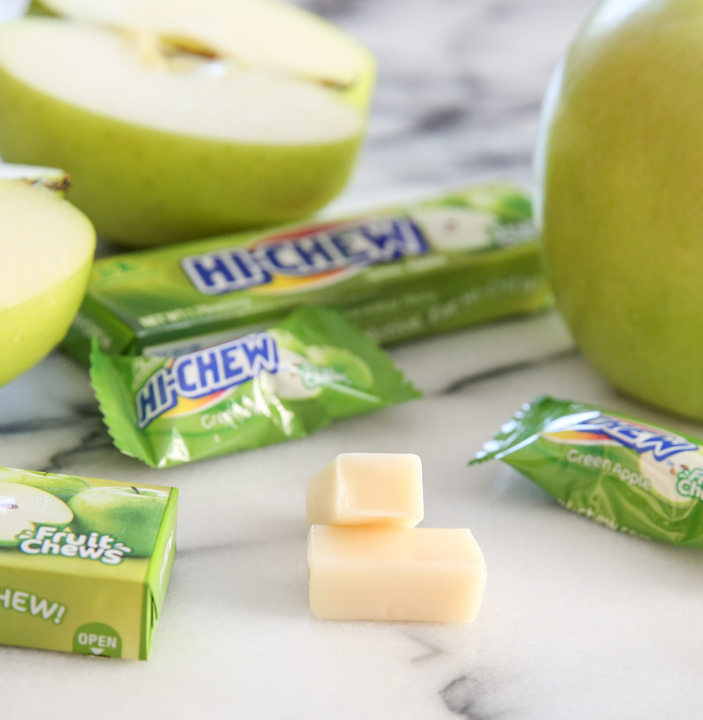 close-up photo of apple Hi-Chew candy