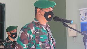 Kodim 1628/SB Gelar Tradisi Penyambutan Personil Satgas Apter Wilayah Timur Dan Anggota Baru Masuk Satuan