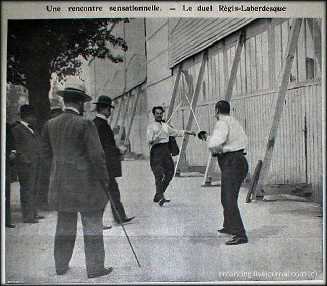 Дуэль на шпагах. Париж, 1901 год