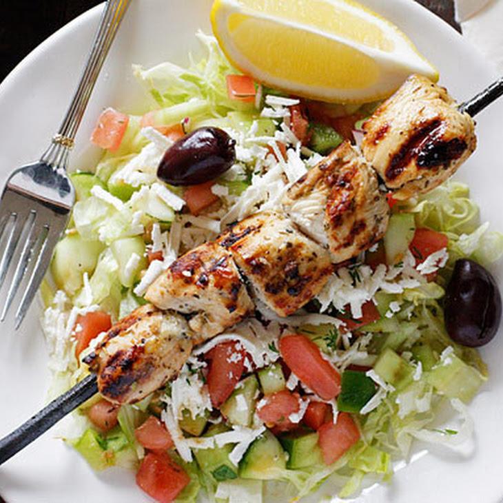 Mediterranean Chicken Kebab Salad Recipe
