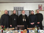 Subdeacon Victor, Fr. Job Watts, Metropolitan Hilarion, Fr. Aidan, Reader Iakovos