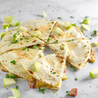 Honey Ham, Gouda and Apple Quesadillas.