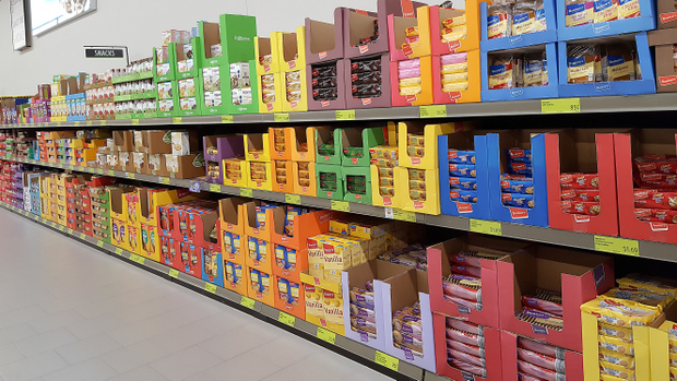 photo of the snack aisle