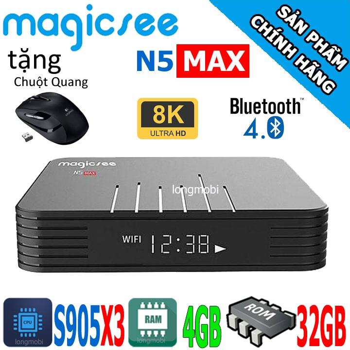 magicsee n5 max android tv box tot nhat