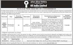 Oil India Limited Geophysicist Advertisement 2018 indgovtjobs.in