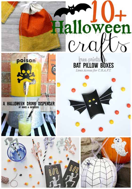 10  Halloween Crafts at GingerSnapCrafts.com #halloween #crafts
