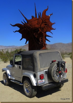 Metal sculpture in Borrego Springs