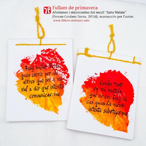 Fullam de primavera, Ferran Cerdans Sera, Llibres Artesans, 2016