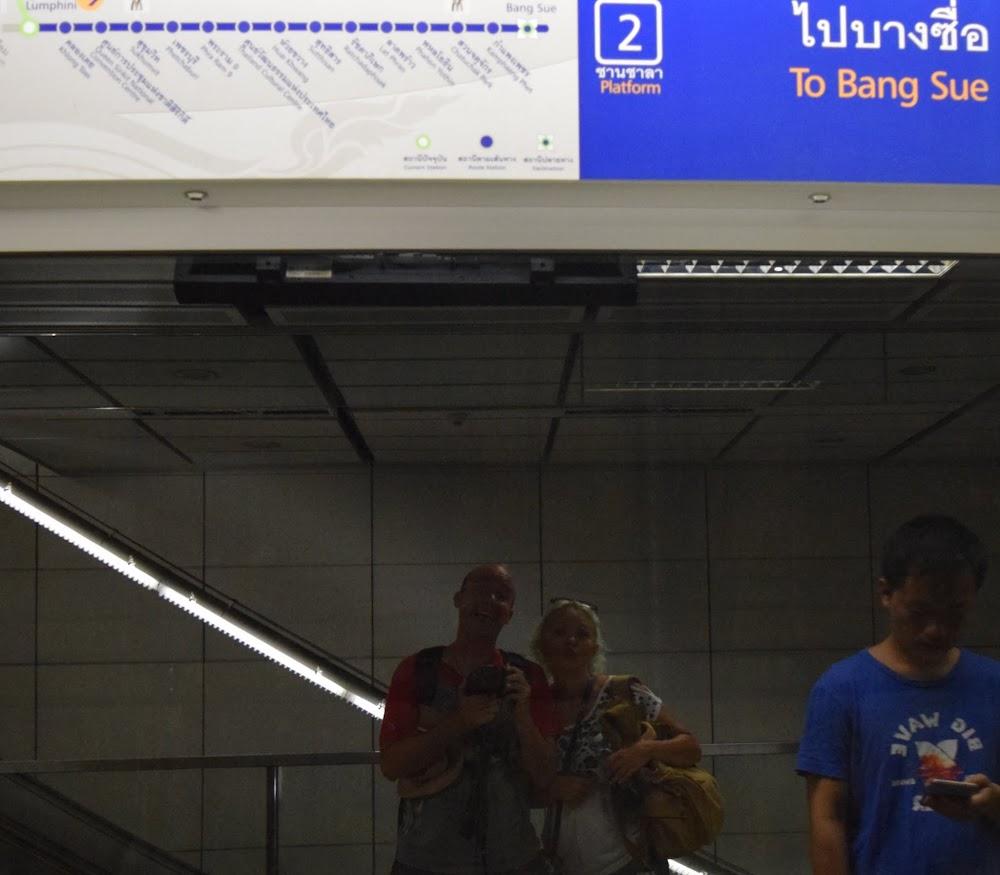 back in the Bangkok subway!