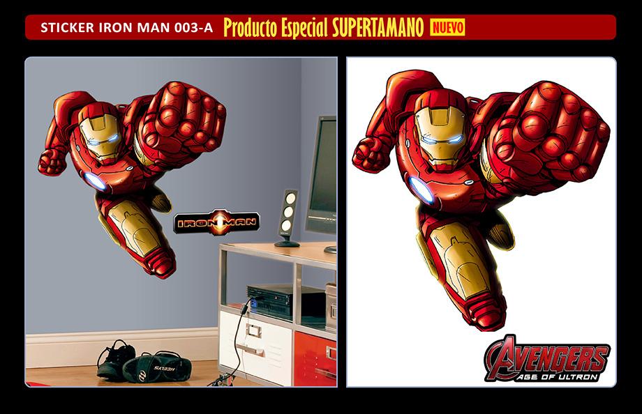 Iron Man Stickers Adhesivos Gigantes - Avengers Era de Ultron - Arteygraficadigital