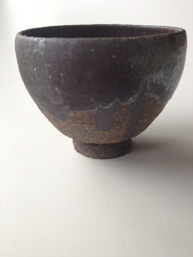 Tea Cup Cha-wan Taka with carbonized black glaze