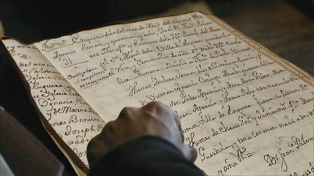 Inscripción del bautismo de mi antepasado Francisco de Paula Vicente Aparicio Aparicio. ARCHIVO PARROQUIAL DE ENGUERA