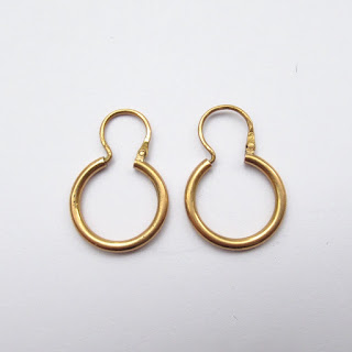14K Gold Small Hoops