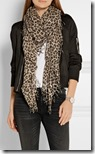 Chan Luu leopard print silk and cashmere scarf