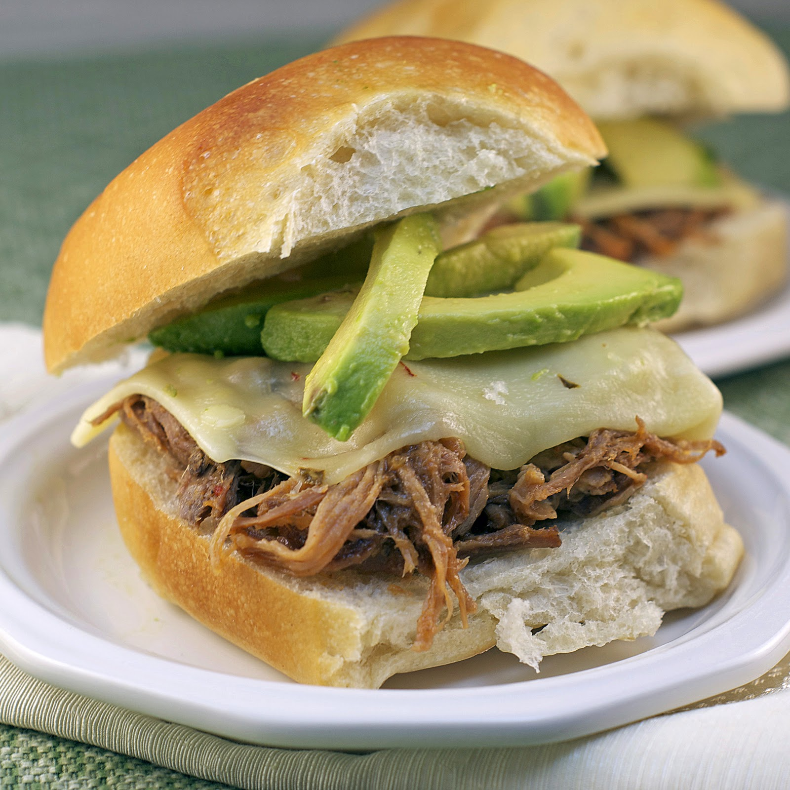 avocado pulled pork slider