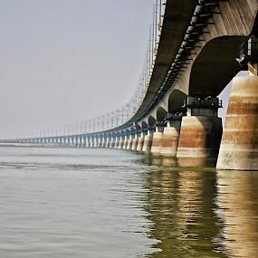 Jamuna Bridge  by Qamrul Hassan Shajal - Buildings & Architecture Bridges & Suspended Structures ( canon eos 60dboat  qamrul hassan shajal bangladesh photography jamuna bridge,  )