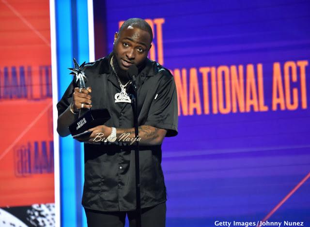 Davido wins Bet Awards 2018 Best International Act