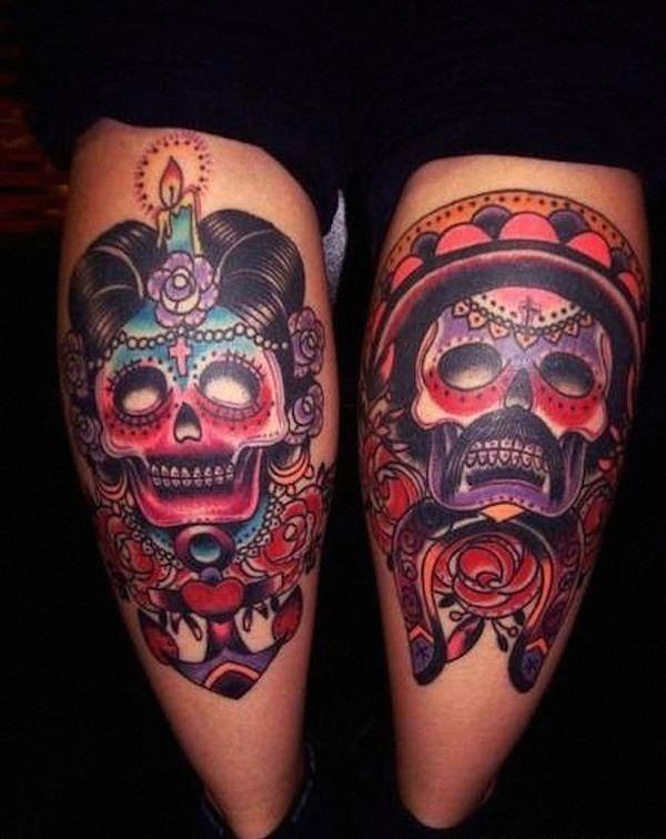 feminino_e_masculino_de_açcar_crnio_tatuagens