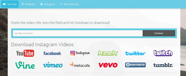 download video YouTube dengan cepat yaitu melalui situs dredown.com/youtube