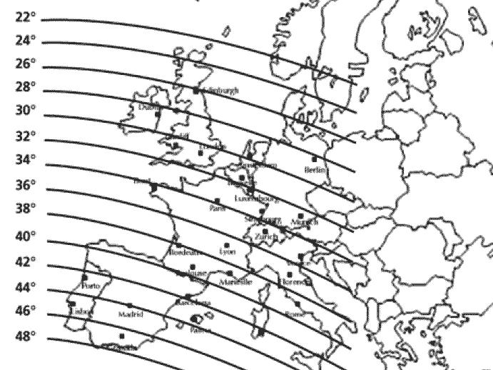 Positionnement satellite atlantic bird 3 - Orientation parabole satellite atlantic bird 3 ...