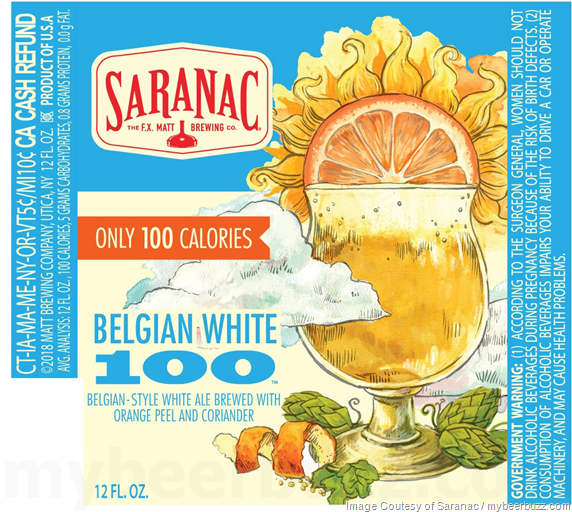 Saranac - Belgian White 100 (With Only 100 Calories)