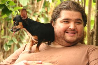 Jorge Garcia and his chihuahua Nunu