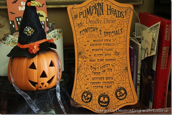Halloween Menu Decor