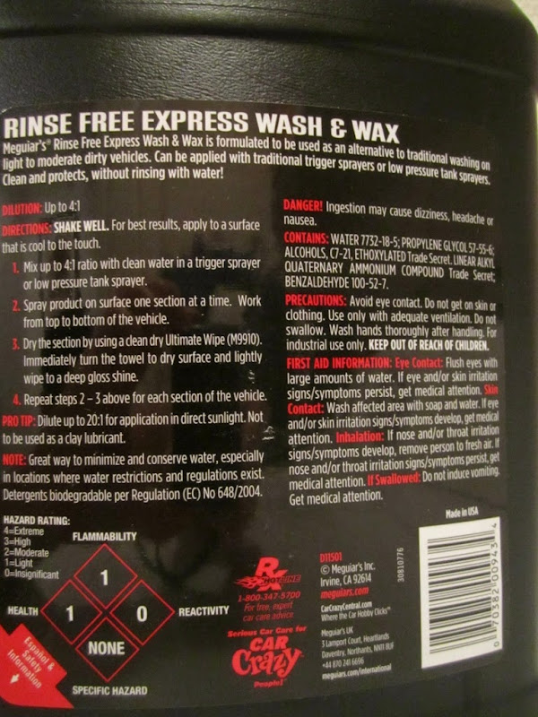 meguiars wash and wax instructions