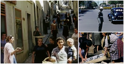 Primeiro filme a cores de Lisboa em 1950