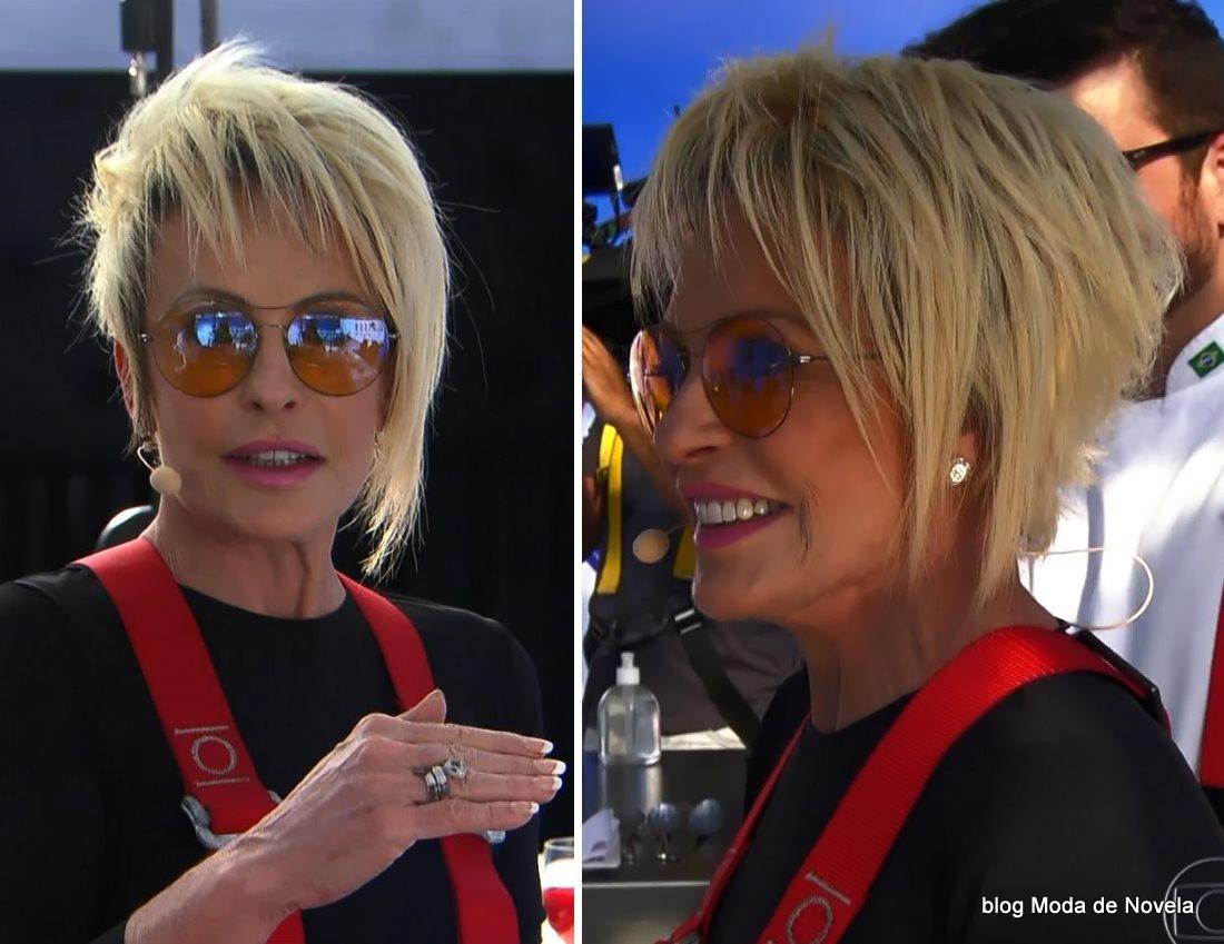 moda do programa Mais Você - óculos de sol da Ana Maria Braga dia 21 de julho