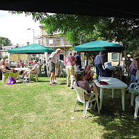 27 July 2014.  Art in the Park.  Busy Tea Tent.